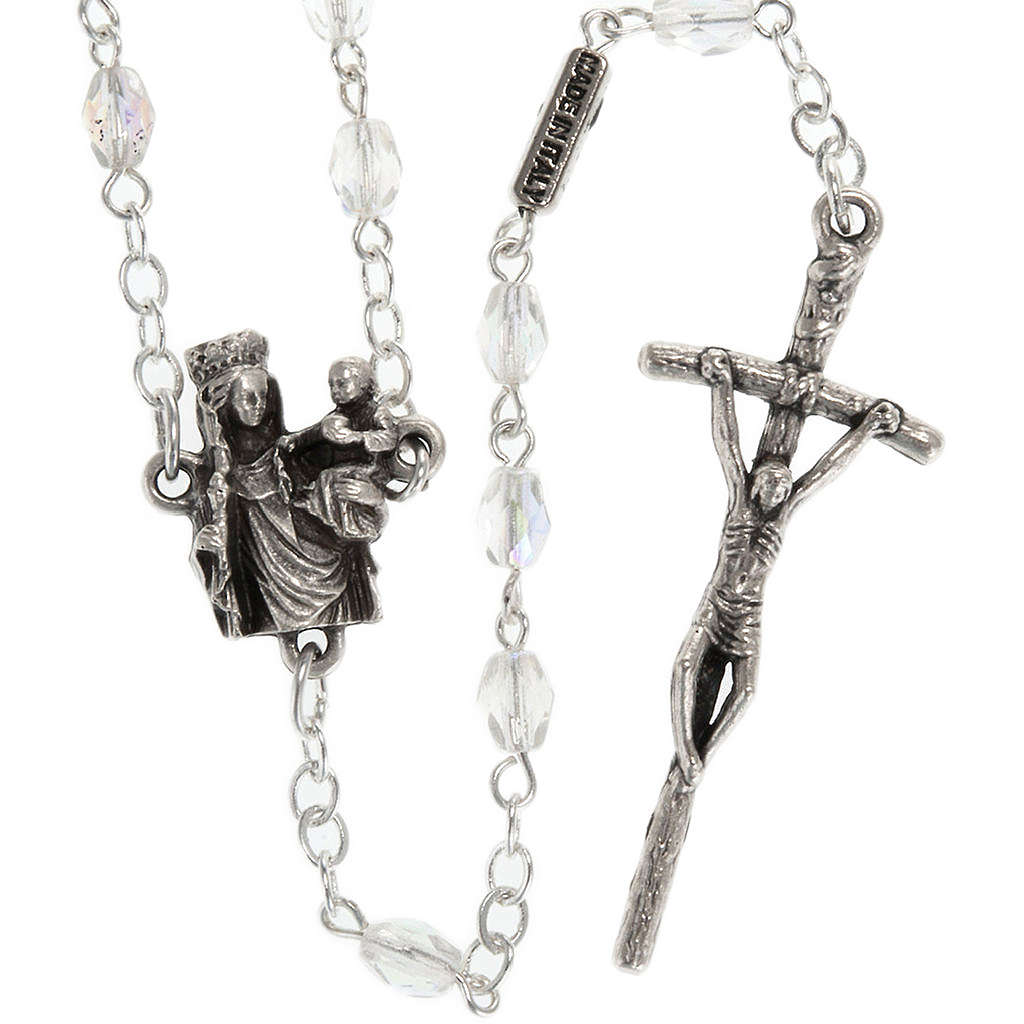 Ghirelli rosary with Our Lady of Paris, 8mm oval beads 4