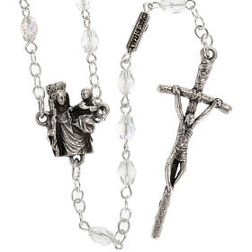 Ghirelli rosary with Our Lady of Paris, 8mm oval beads s2