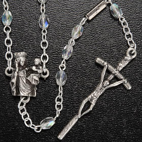 Ghirelli rosary with Our Lady of Paris, 8mm oval beads s4