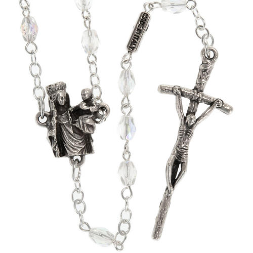 Ghirelli rosary with Our Lady of Paris, 8mm oval beads 2