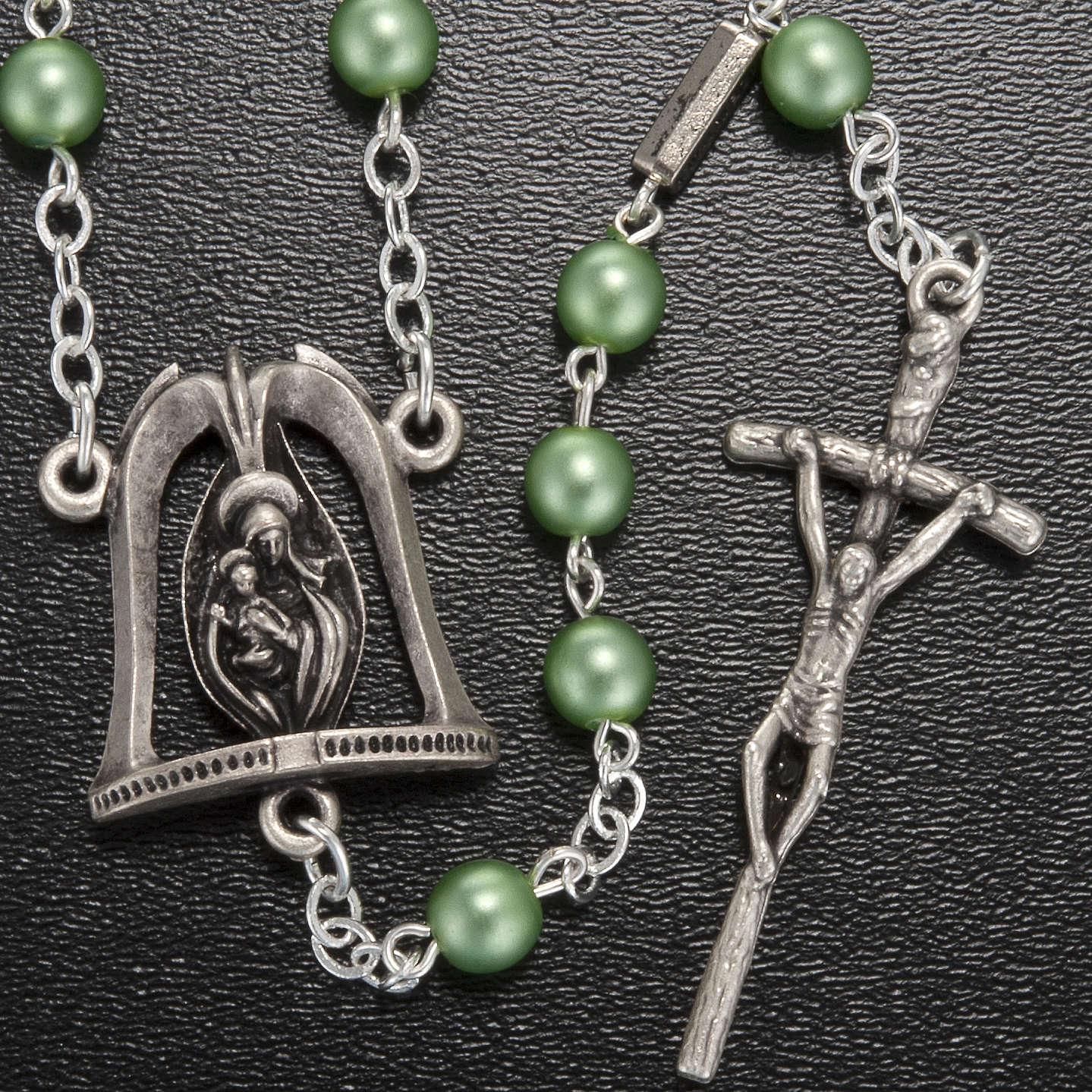 Chapelet Ghirelli Vierge Marie avec enfant vert clair 6 mm 4