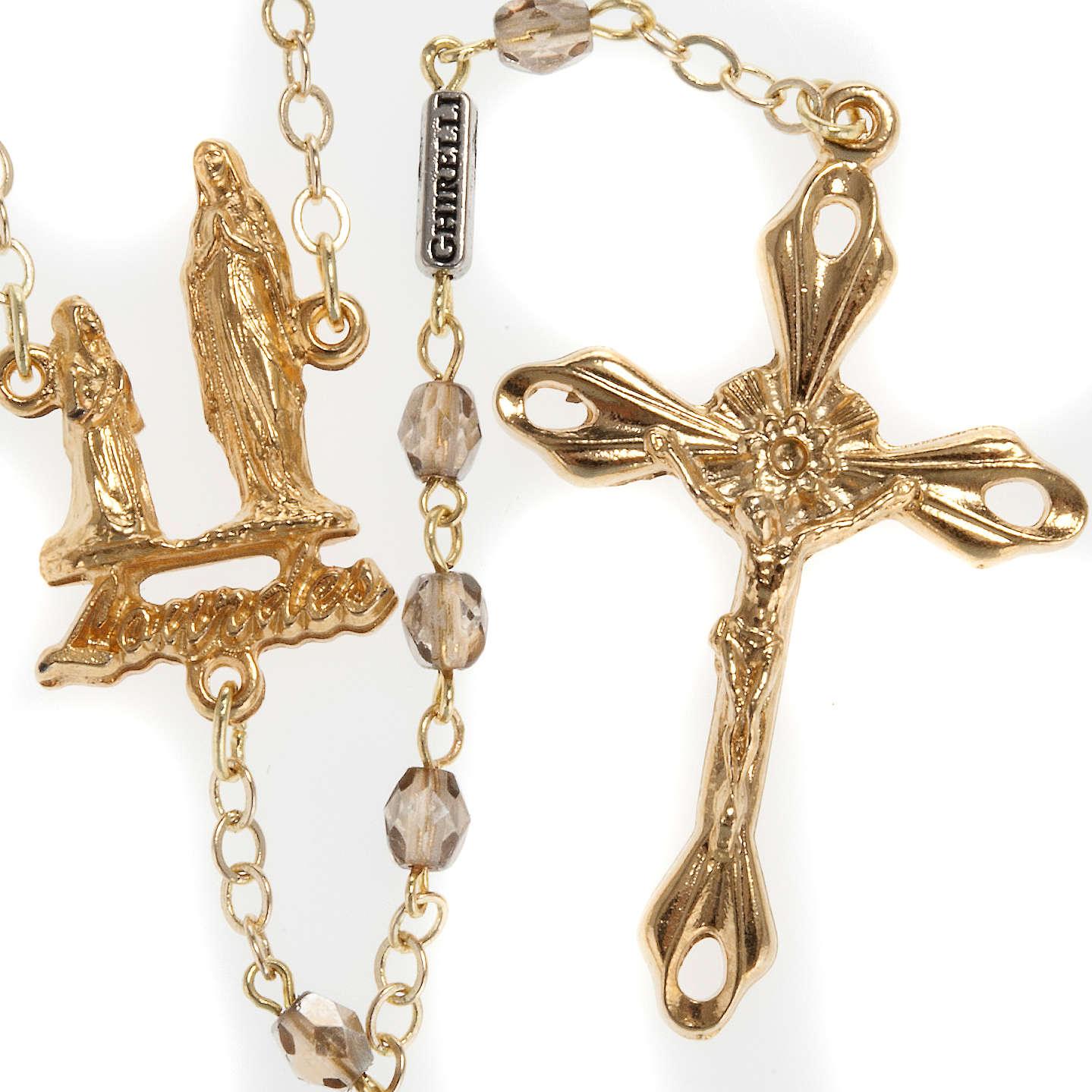 Rosario Ghirelli Madonna di Lourdes cristallo oro 5 mm 4