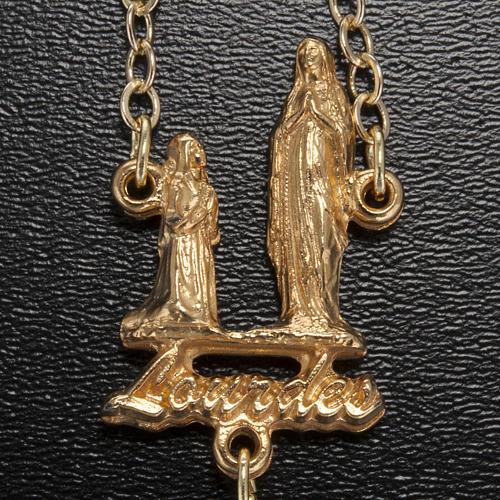 Rosario Ghirelli Madonna di Lourdes cristallo oro 5 mm 3