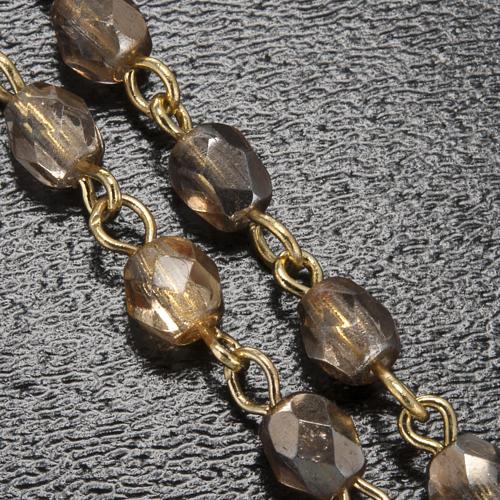 Rosario Ghirelli Madonna di Lourdes cristallo oro 5 mm 5
