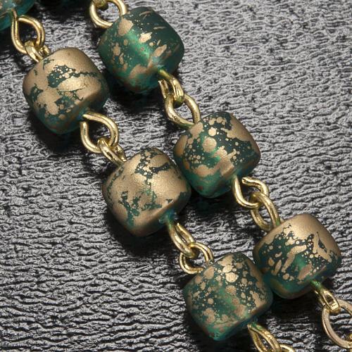 Rosario Ghirelli Grotta di Lourdes verde oro 5 mm 5