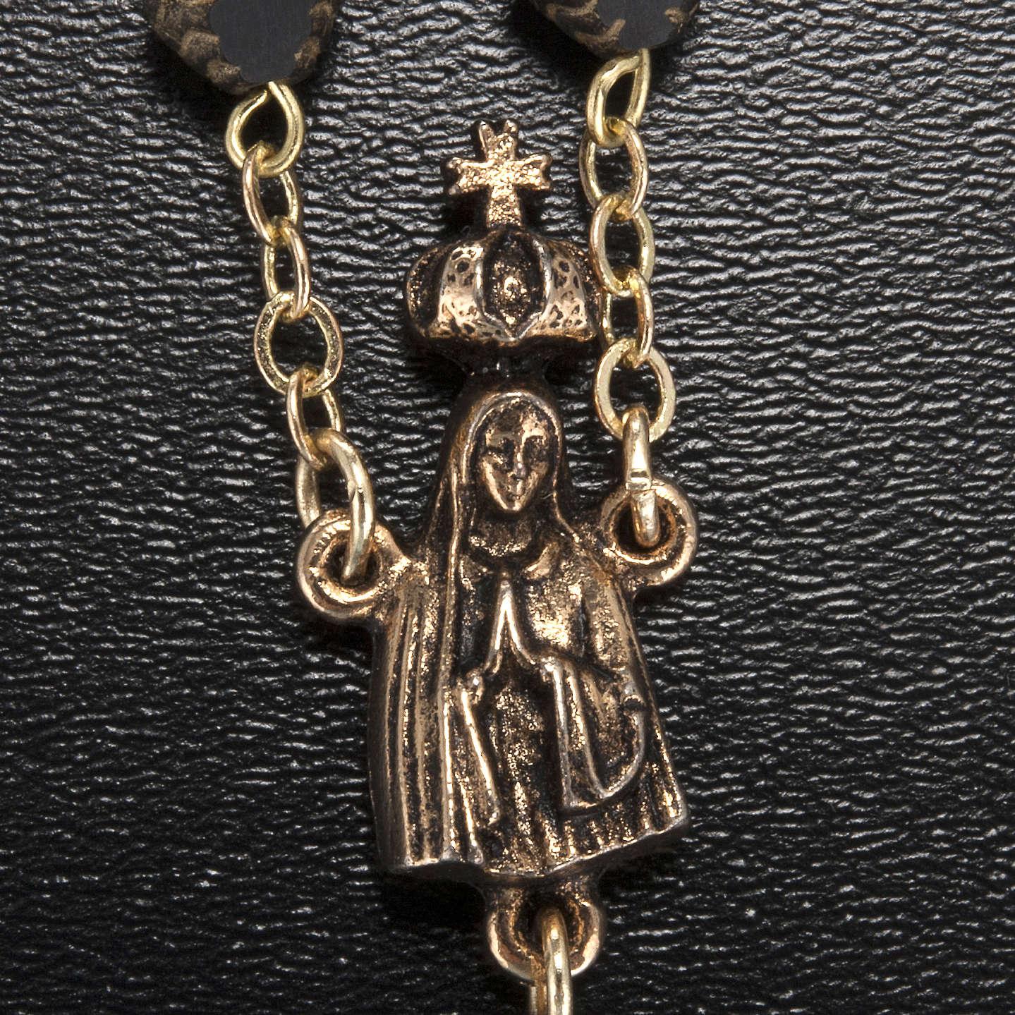 Rosario Ghirelli Madonna di Fatima nero e oro 8 mm 4