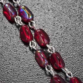 Rosario Ghirelli grotta di Lourdes rosso 7 mm s5