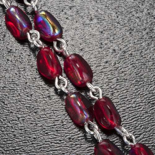 Rosario Ghirelli grotta di Lourdes rosso 7 mm 5