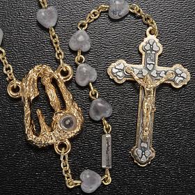 Rosario Ghirelli grotta di Lourdes grigio cuore 7 mm s2