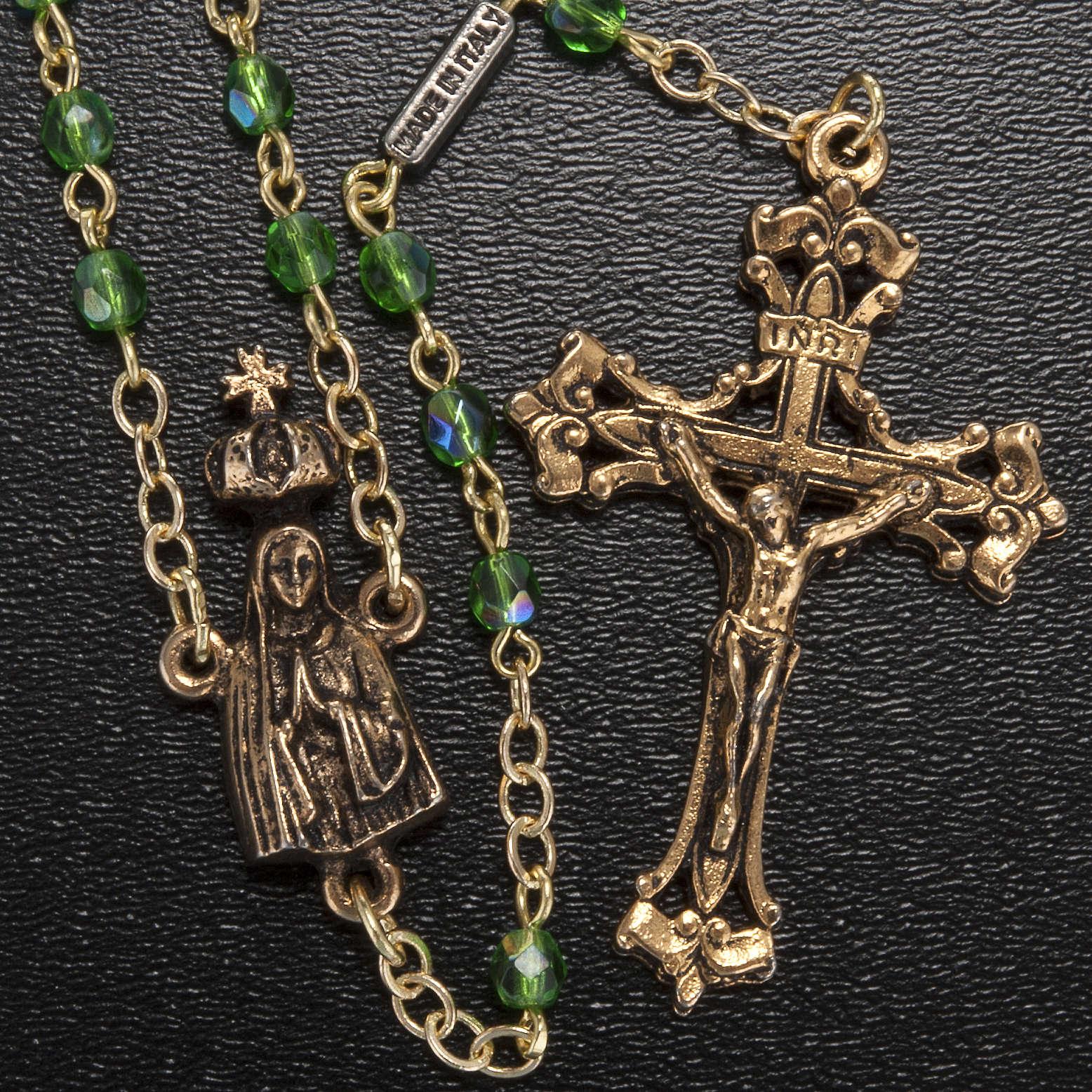 Rosario Ghirelli Madonna di Fatima verde 4 mm 4