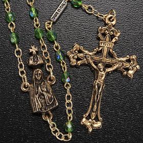 Rosario Ghirelli Madonna di Fatima verde 4 mm s2