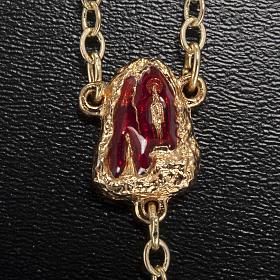 Rosario Ghirelli grotta di Lourdes rosso oro 6 mm s3