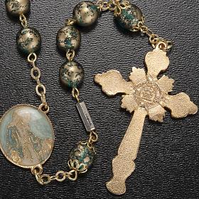 Rosario Ghirelli Gesù Risorto verde oro 8 mm s3