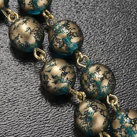 Rosario Ghirelli Gesù Risorto verde oro 8 mm s10