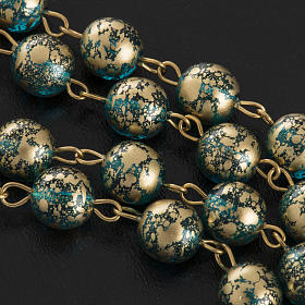 Rosario Ghirelli Gesù Risorto verde oro 8 mm s11