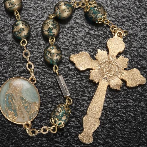 Rosario Ghirelli Gesù Risorto verde oro 8 mm 3