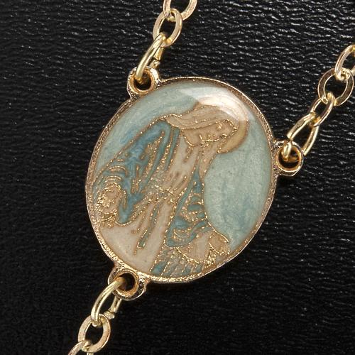 Rosario Ghirelli Gesù Risorto verde oro 8 mm 5