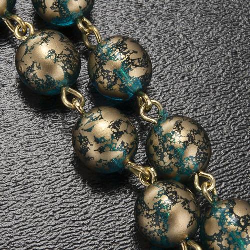 Rosario Ghirelli Gesù Risorto verde oro 8 mm 10