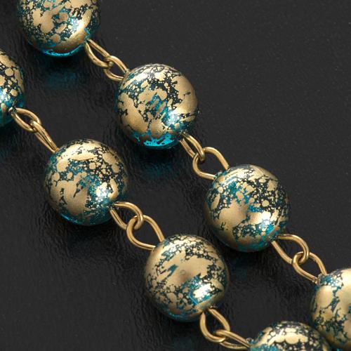 Rosario Ghirelli Gesù Risorto verde oro 8 mm 9