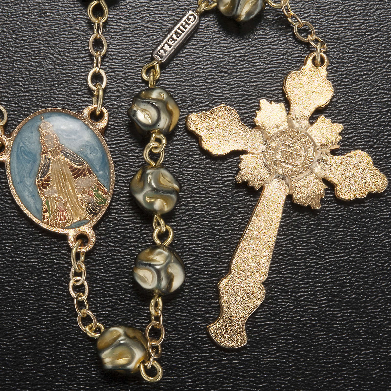 Ghirelli rosary Immaculate Conception, yellow-gold 8 mm 4