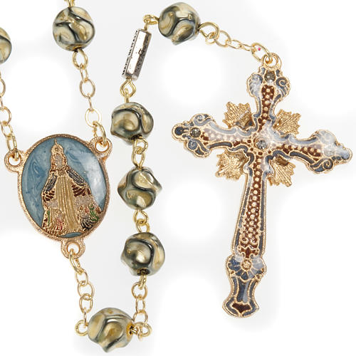Ghirelli rosary Immaculate Conception, yellow-gold 8 mm 1
