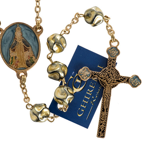 Ghirelli rosary Immaculate Conception, yellow-gold 8 mm 2