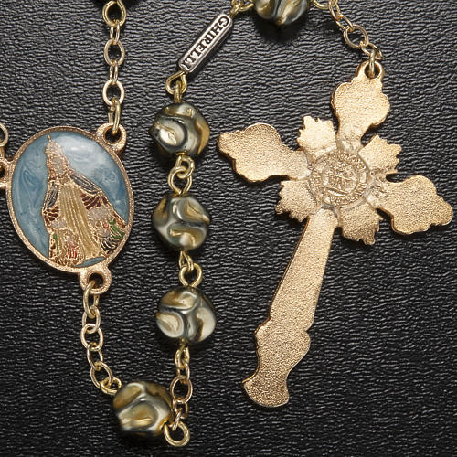 Ghirelli rosary Immaculate Conception, yellow-gold 8 mm 3