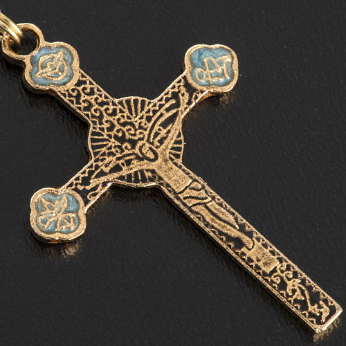 Ghirelli rosary Immaculate Conception, yellow-gold 8 mm 5