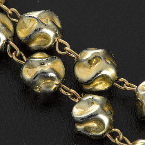 Ghirelli rosary Immaculate Conception, yellow-gold 8 mm 10