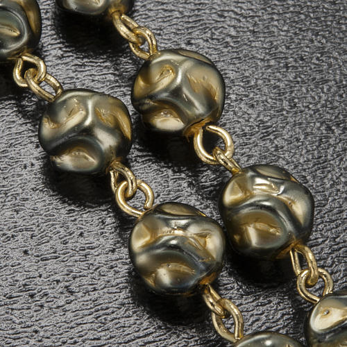 Ghirelli rosary Immaculate Conception, yellow-gold 8 mm 9