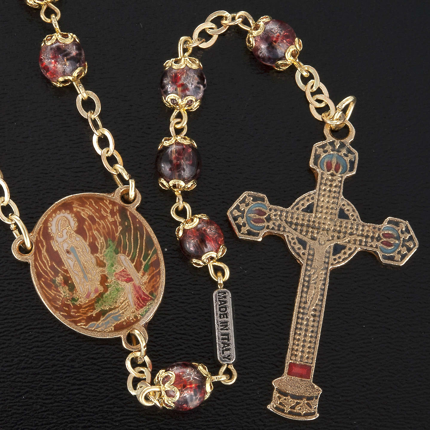 Ghirelli multicolored rosary with Our Lady  6mm 4
