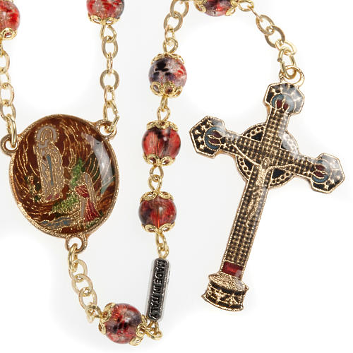 Ghirelli multicolored rosary with Our Lady  6mm 2