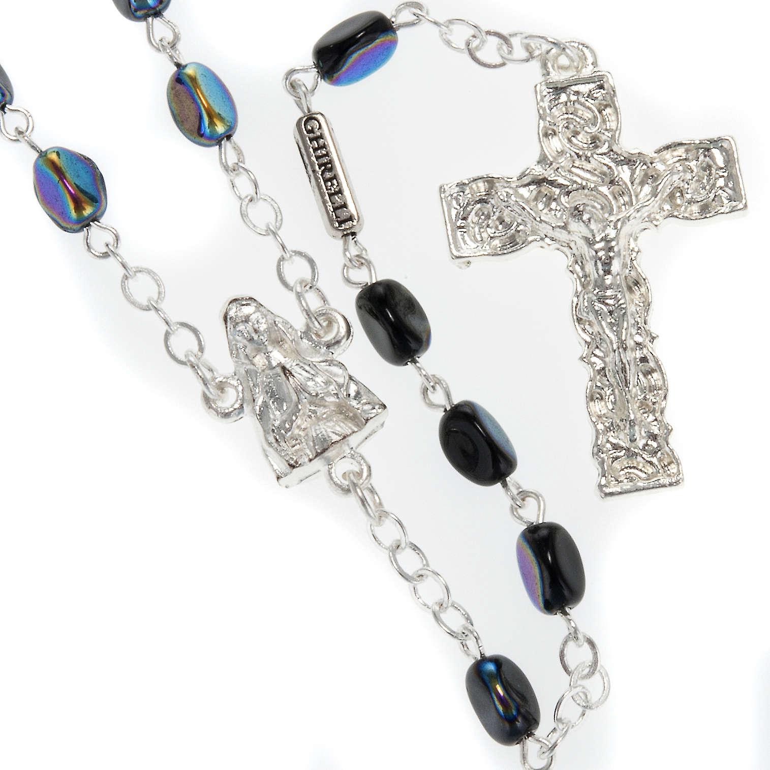 Rosario Ghirelli Madonna di Lourdes nero 7 mm 4