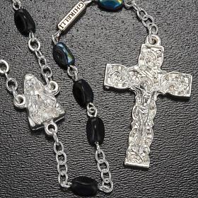 Rosario Ghirelli Madonna di Lourdes nero 7 mm s2