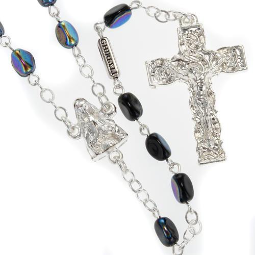 Rosario Ghirelli Madonna di Lourdes nero 7 mm 1