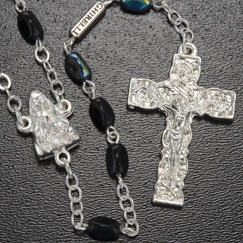 Rosario Ghirelli Madonna di Lourdes nero 7 mm 2