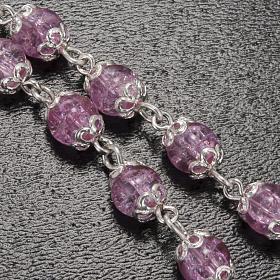 Rosario Ghirelli grotta Lourdes rosa vetro crepato 6 mm s5