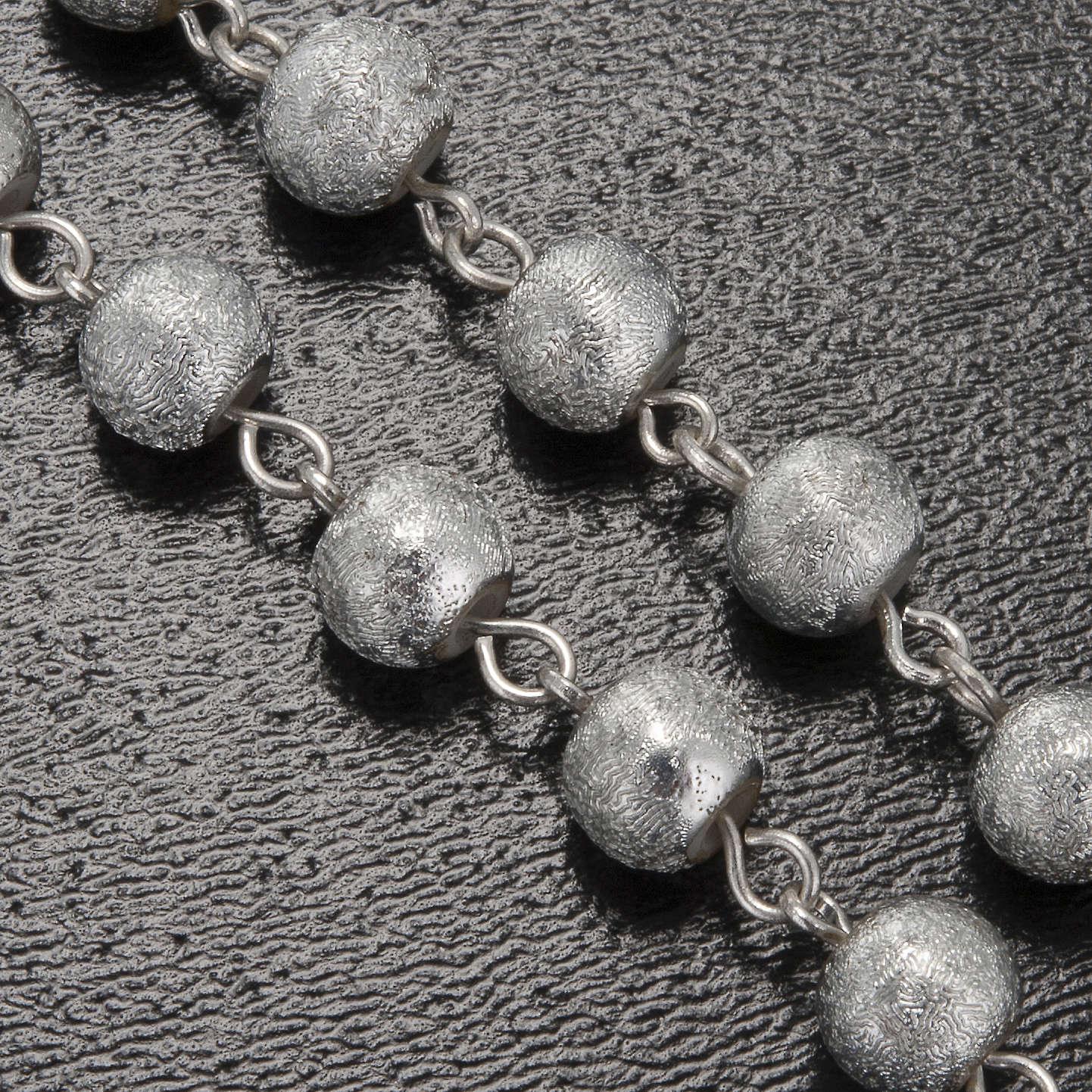 Rosario Ghirelli grotta Lourdes grigio argento 6 mm 4
