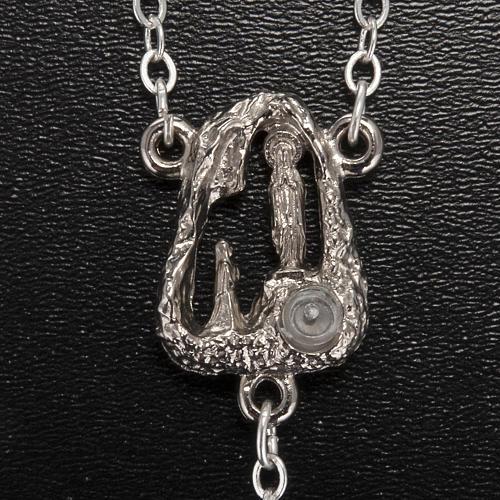 Rosario Ghirelli grotta Lourdes grigio argento 6 mm 3