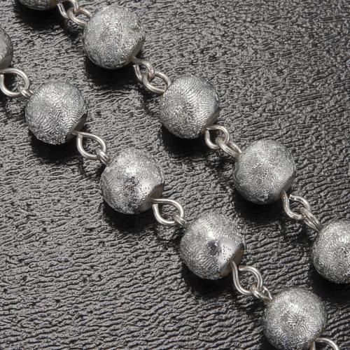 Rosario Ghirelli grotta Lourdes grigio argento 6 mm 5