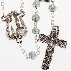 Ghirelli rosary Lourdes Grotto, grey-silver 6mm s1