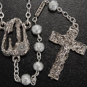 Ghirelli rosary Lourdes Grotto, grey-silver 6mm s2
