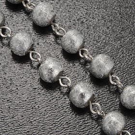 Ghirelli rosary Lourdes Grotto, grey-silver 6mm s5