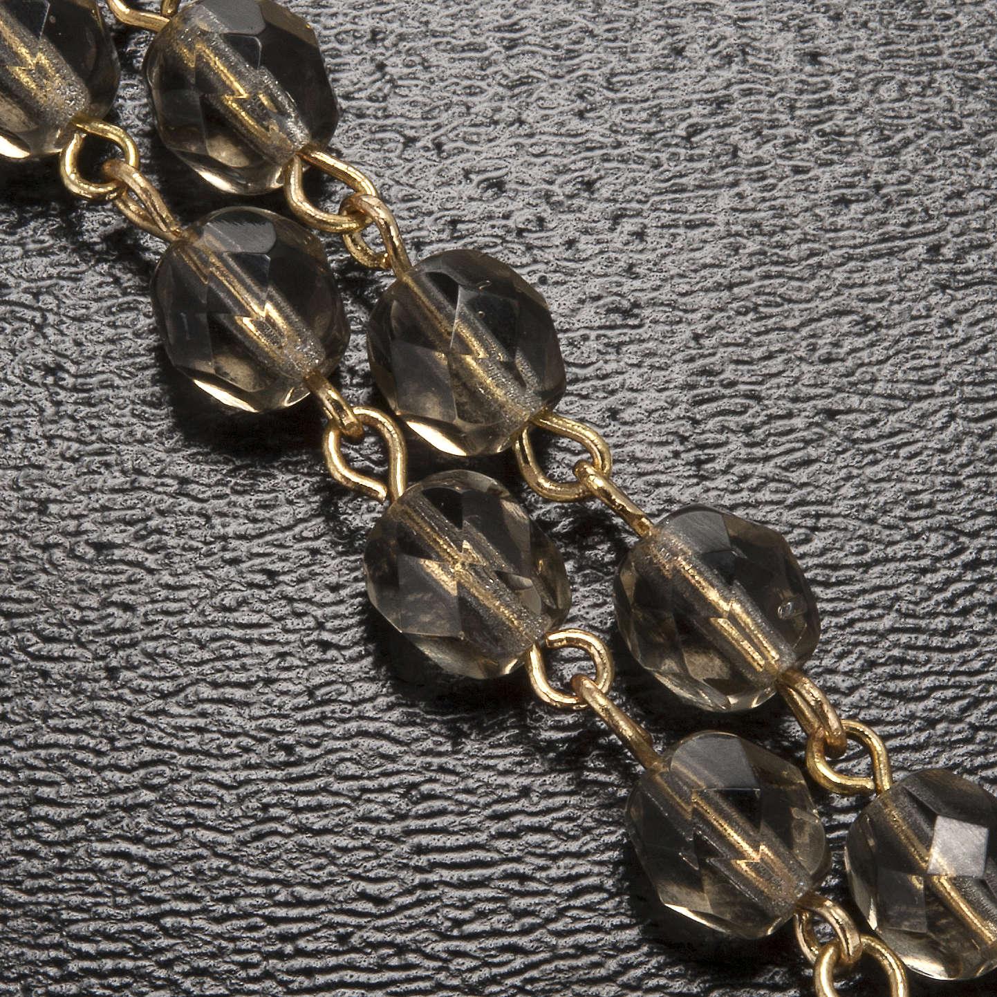 Rosario Ghirelli Lourdes grigio e oro 5mm 4
