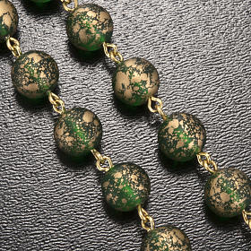 Ghirelli rosary Lourdes Grotto, green-golden 8mm s5