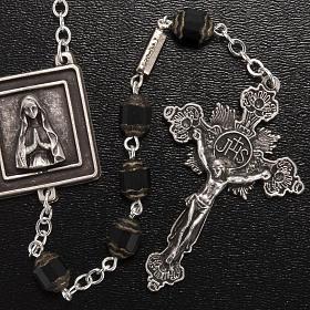 Rosario Ghirelli Nostra Signora di Lourdes 6 mm nero s2