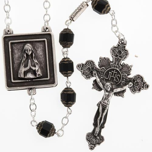 Rosario Ghirelli Nostra Signora di Lourdes 6 mm nero 1