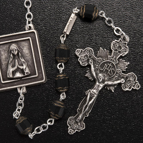 Rosario Ghirelli Nostra Signora di Lourdes 6 mm nero 2