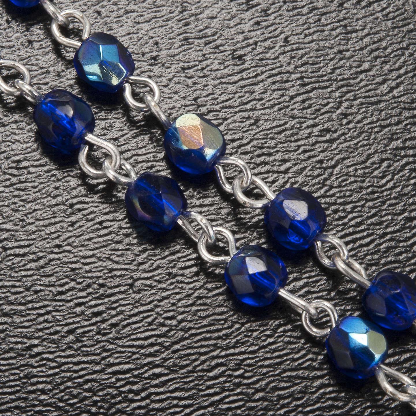 Chapelet Ghirelli Lourdes bleu 3 mm 4