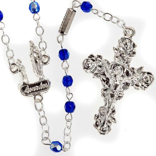 Chapelet Ghirelli Lourdes bleu 3 mm 1